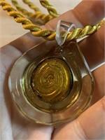 MURANO ART GLASS PENDANT ON ROPE