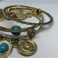 LARGE LOT OF GRAZIANO BANGLE BRACELETS