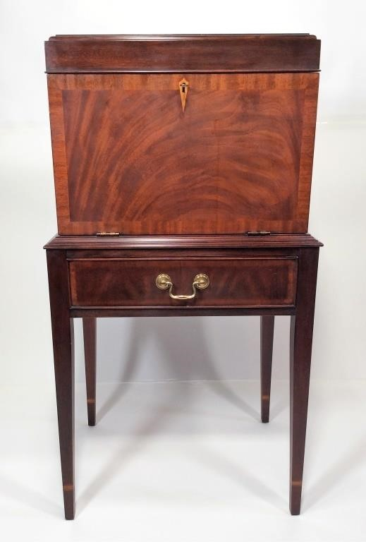 Mahogany Henkel-Harris Silver Chest, lift top,
