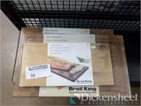 (2) Broil King Cutting Boards, (1) Cedar Grilling