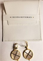 275.00 NEW FREIDA ROTHMAN STERLING EARRINGS
