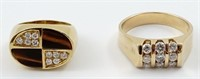 Jewelry lot (2) Desirable gold rings