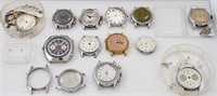 Assorted chronograph WW parts & mvts