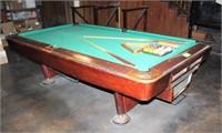 8' Billiards Table & Accessories,