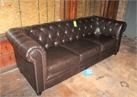 "Leather Couch, Approx. 90""L"