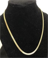 """14K GOLD WOVEN NECKLACE 10.5"""" - SIGNED ITALY"""