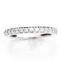 1/2+ CT Diamond & 14k WG Narrow Band Ring