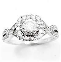 NEIL LANE 2/3+ CT Diamond & 14k WG Halo Ring