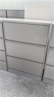2 Drawer 1 Door Lateral File Cabinet 36x18x52