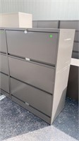 2 Drawer 1 Door Lateral File Cabinet 36x18x53