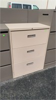 3 Drawer Lateral File Cabinet 30x18x42