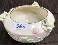 366 - LENOX FLORAL FROG BOWL