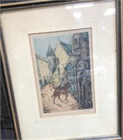 366 - LOT OF 2 PAIR OF SIGNED FRAMED WALL ART