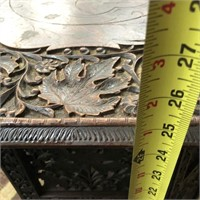 366 - STUNNING CARVED WOOD ACCENT TABLE