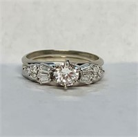 14k Diamond Bridal Set with Appraisal