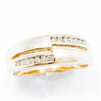 Designer Diamond & 14k Gold Modern Band Ring