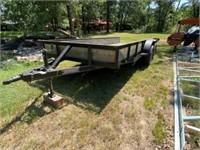 Bumper pull trailor w/ ramps 16'