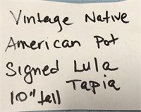 VINTAGE NATIVE AMERICAN POT SIGNED LULA TAPIA
