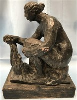 ANTIQUE CLAY SCULPTURE FROM THE BALTIMORE MUSEUM