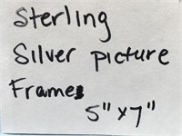 D - STERLING SILVER PICTURE FRAME 5 X 7