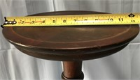 "D - ANTIQUE WOOD PEDISTAL 34.5"" TALL"