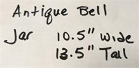 D - ANTIQUE BELL JAR 10.5 X 13.5
