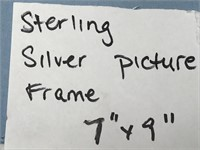 "STERLING SILVER PICTURE FRAME 7"" X 9"""