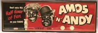 """1950'S AMOS 'N' ANDY FRAMED ADVERTIESEMENT 37"""" X"""