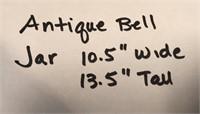 """ANTIQUE BELL JAR 10.5"""" WIDE 13.5"""" TALL"""