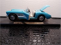 Powder Blue and White 1957 Chevrolet Corvette