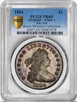 $1 1804 CLASS I ORIGINAL. PCGS PR65