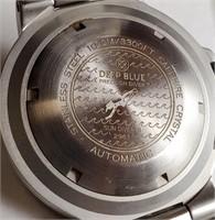 DEEP BLUE STAINLESS STEEL 1000M/3300 FT SAPPHIRE