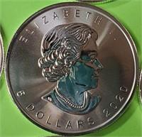 25 $5 DOLLAR CANADA 1oz FINE SILVER COINS (12)