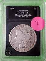 1901 - SILVER MORGAN DOLLAR (7)