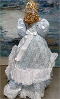 "49 - BEAUTIFUL ""BLUE ICE"" PORCELAIN DOLL FROM HSN"
