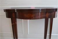 Wooden folding leaf table