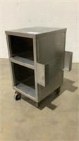 "(2) 27 "" Rolling Stainless Steel Cabinets"