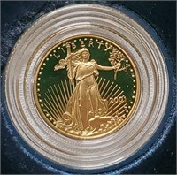 2001 GOLD $5 DOLLAR PROOF COIN  (25)