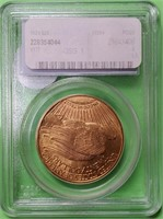 GRADED GOLD 1924 $20 DOLLAR AMERICAN EAGLE  (30)