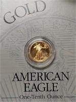GOLD AMERICAN EAGLE $5 DOLLAR COIN (24)