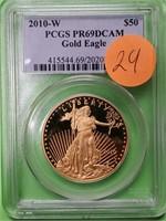GRADED 2010-W GOLD $50 DOLLAR AMERICAN EAGLE (29)