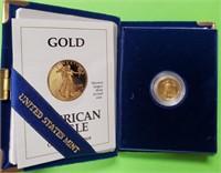 GOLD $5 DOLLAR  AMERICAN EAGLE COIN  (23)