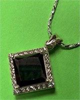 361-STERLING SILVER .925 PENDANT & NECKLACE W/CERT