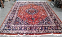 OBEETEE HUGE 13X10 VINTAGE HAND KNOTTED RUG - BEEN