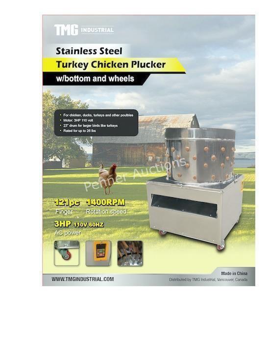 Chicken Plucker w/bottom and sheels 120V/60HZ