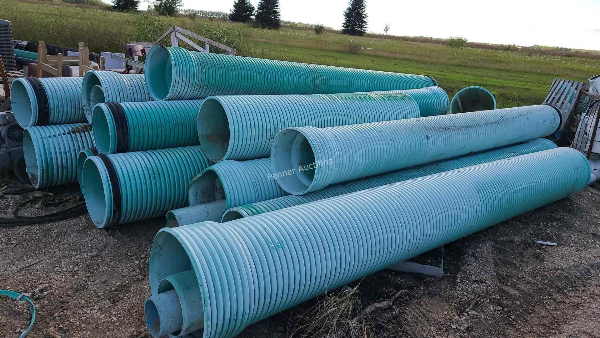 Qty 13ft Sewer Pipe, Some Shorter Pieces