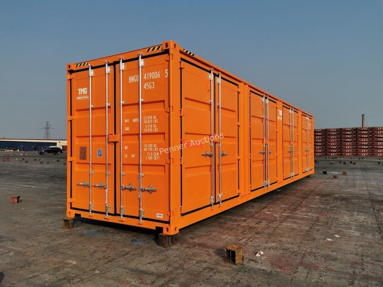 40'HC Full Side Open Door Shipping Container