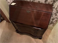 Vintage Wooden Desk and Contents