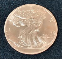 Twenty 1 Ounce Copper .999 Fine Walking Liberty