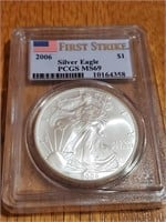 2006 Silver Eagle Ms69 First Strike